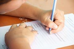 Estudiante del examen Fotografía de archivo libre de regalías