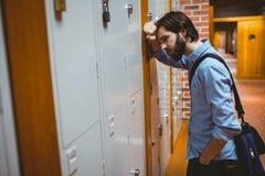 Estudiante del inconformista que siente la presión Imagen de archivo
