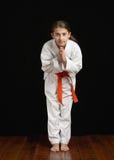 Estudiante del karate Imágenes de archivo libres de regalías