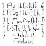 Estudiante del malo del alfabeto stock de ilustración