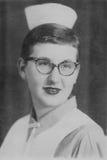 Estudiante del oficio de enfermera del vintage Imagenes de archivo