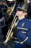 Estudiante del trompetista Foto de archivo