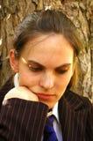 Estudiante deprimido Imagen de archivo libre de regalías