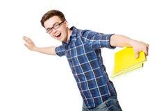 Estudiante divertido aislado Imagen de archivo libre de regalías