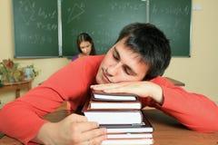 Estudiante durmiente Imágenes de archivo libres de regalías
