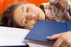 Estudiante durmiente foto de archivo