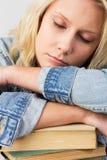 Estudiante durmiente Imagenes de archivo