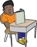 Estudiante durmiente en el escritorio Fotografía de archivo libre de regalías