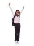 Estudiante emocionado Girl Imagen de archivo
