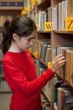 Estudiante en biblioteca Fotos de archivo libres de regalías