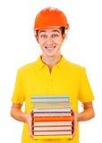 Estudiante en casco Foto de archivo libre de regalías