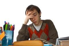 Estudiante en el vector, el caer dormido Imágenes de archivo libres de regalías