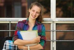 Estudiante en la escuela Imagen de archivo