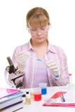 Estudiante en laboratorio Fotografía de archivo
