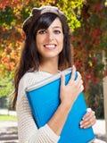 Estudiante en otoño Imágenes de archivo libres de regalías