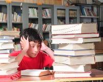 Estudiante en una sala de clase Fotografía de archivo libre de regalías