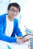 Estudiante en universidad Foto de archivo libre de regalías