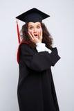 Estudiante en vestido de la graduación Fotografía de archivo libre de regalías