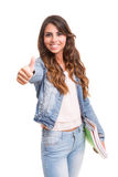 ¡Estudiante feliz! Imagen de archivo