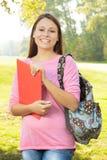 Estudiante feliz al aire libre Imagen de archivo libre de regalías
