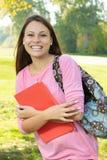 Estudiante feliz al aire libre Imagen de archivo