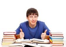 Estudiante feliz con libros Foto de archivo