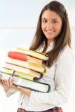 Estudiante feliz con los libros Imagen de archivo