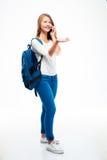 Estudiante feliz que habla en el teléfono Fotografía de archivo libre de regalías