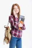 Estudiante feliz que habla en el teléfono Fotos de archivo libres de regalías