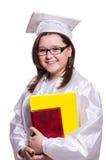 Estudiante femenino aislado Imagen de archivo libre de regalías