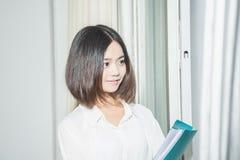 Estudiante femenino asiático Foto de archivo