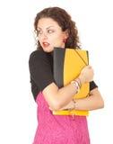 Estudiante femenino asustado Foto de archivo