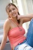 Estudiante femenino bastante joven Imagen de archivo