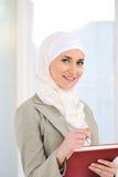 Estudiante femenino caucásico musulmán foto de archivo libre de regalías