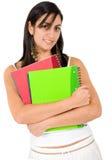 Estudiante femenino - cuadernos Imagen de archivo