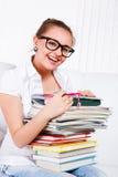 Estudiante femenino de risa Imagen de archivo libre de regalías