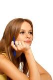 Estudiante femenino en sala de clase foto de archivo libre de regalías