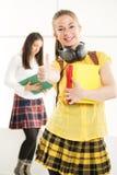 Estudiante femenino feliz Imagenes de archivo
