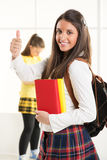 Estudiante femenino feliz Fotos de archivo