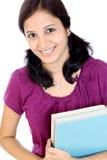Estudiante femenino indio sonriente Imagen de archivo