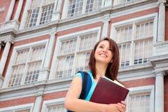 Estudiante femenino sonriente Imágenes de archivo libres de regalías