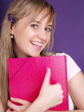 Estudiante femenino sonriente Foto de archivo libre de regalías