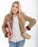 Estudiante femenino sonriente Imagenes de archivo