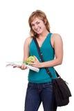 Estudiante femenino sonriente hermoso Imagen de archivo
