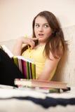 Estudiante femenino sorprendido Fotografía de archivo