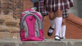 Estudiante Forgets Backpack Imagen de archivo libre de regalías