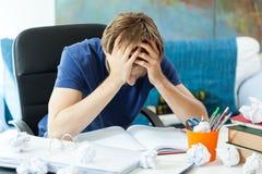 Estudiante frustrado Fotografía de archivo libre de regalías