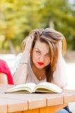 Estudiante frustrado Tearing Hair Imagenes de archivo