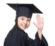 Estudiante graduado de la niña Fotos de archivo