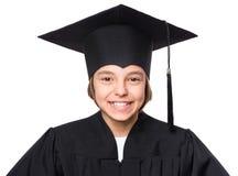 Estudiante graduado de la niña Imágenes de archivo libres de regalías